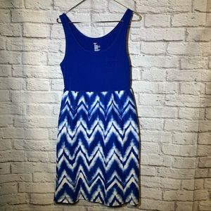 Gap large blue tank pattern cotton dress 3156